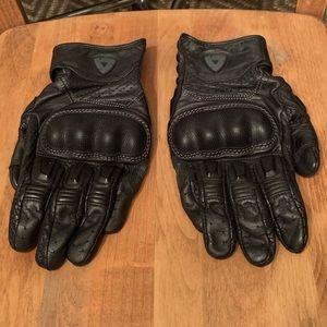 REV'IT Black Motorcycle Gloves